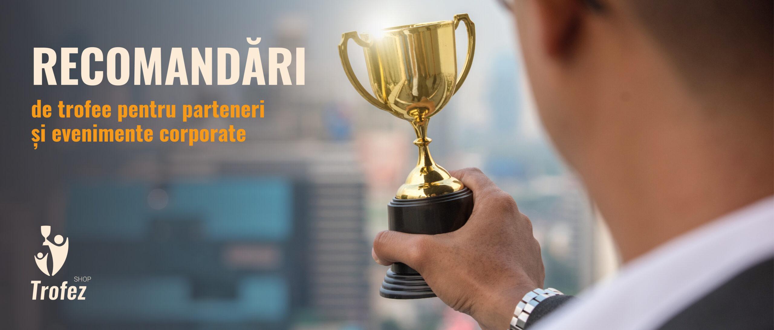 Recomandari de trofee pentru parteneri si evenimente corporate